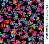 multicolored seamless pattern... | Shutterstock .eps vector #641733766