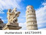 the belltower of pisa  and... | Shutterstock . vector #641734495