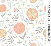 vector seamless pattern with... | Shutterstock .eps vector #641734732