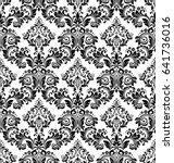 damask seamless floral pattern. ... | Shutterstock . vector #641736016