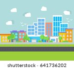 urban landscape city design  | Shutterstock .eps vector #641736202