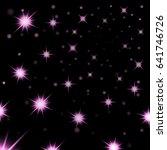 pink stars black night sky...