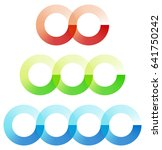 abstract interlocking circles... | Shutterstock .eps vector #641750242