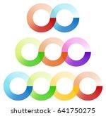 abstract interlocking circles...   Shutterstock .eps vector #641750275