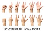 male hands counting from zero... | Shutterstock . vector #641750455