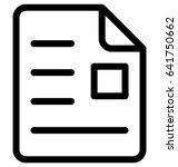 resume vector icon | Shutterstock .eps vector #641750662