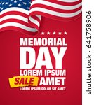 memorial day sale banner... | Shutterstock .eps vector #641758906