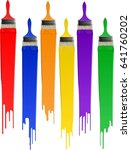colorful paint  | Shutterstock .eps vector #641760202