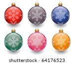 christmas baubles isolated on... | Shutterstock .eps vector #64176523