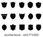 simple black shield icons | Shutterstock .eps vector #641771302