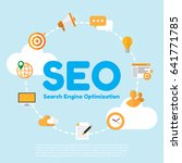 seo. search engine optimation.... | Shutterstock .eps vector #641771785