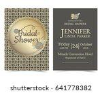 bridal shower card  for muslim...   Shutterstock .eps vector #641778382