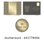 rsvp card and sticker for...   Shutterstock .eps vector #641778406