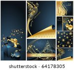 merry christmas and happy new... | Shutterstock .eps vector #64178305