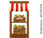local fruits stall. fresh... | Shutterstock .eps vector #641787436