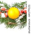 christmas green  framework with ... | Shutterstock . vector #64179121