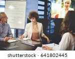 business people video... | Shutterstock . vector #641802445
