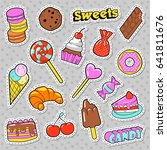 sweets and bakery doodle....   Shutterstock .eps vector #641811676