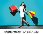full length portrait of a... | Shutterstock . vector #641814232