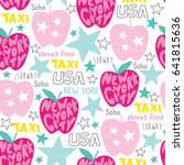 seamless new york city pattern... | Shutterstock .eps vector #641815636