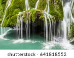 Small photo of Bigar waterfall in Romania - one of the most beautiful waterfalls in the country. Discover Romania concept.