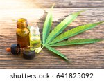 cannabis  cannabis oil extracts ...   Shutterstock . vector #641825092