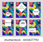 abstract vector layout... | Shutterstock .eps vector #641827792