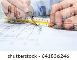 double exposure engineer are... | Shutterstock . vector #641836246