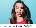 close up portrait of a pretty... | Shutterstock . vector #641840626