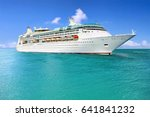 luxury cruise ship sailing to... | Shutterstock . vector #641841232