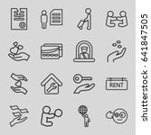 holding icons set. set of 16... | Shutterstock .eps vector #641847505