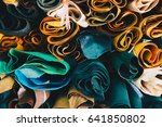 leather craft roll up overlapse ... | Shutterstock . vector #641850802