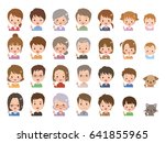 people pose | Shutterstock .eps vector #641855965