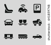 car icons set. set of 9 car... | Shutterstock .eps vector #641859748