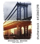 photo brooklyn bridge... | Shutterstock . vector #641860198