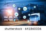 logistics industrial container... | Shutterstock . vector #641860336