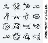 activity icon. set of 16... | Shutterstock .eps vector #641862136