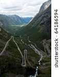 road of the Trolls, Norway - stock photo