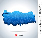turkey map and flag   highly... | Shutterstock .eps vector #641866012