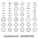 a huge rosette wicker border... | Shutterstock .eps vector #641866762