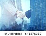 double exposure analysis... | Shutterstock . vector #641876392