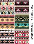 native american  set of six...   Shutterstock .eps vector #641882452
