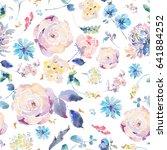 gentle vintage natural floral... | Shutterstock . vector #641884252