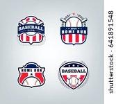 vector design set of baseball... | Shutterstock .eps vector #641891548