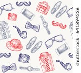 men's accessories seamless...   Shutterstock .eps vector #641894236