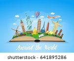 travel to world. road trip.... | Shutterstock .eps vector #641895286