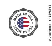 """""""made in usa"""" badge with usa... 