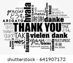 thank you word cloud in... | Shutterstock .eps vector #641907172