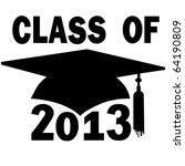 a mortar board graduation cap... | Shutterstock .eps vector #64190809