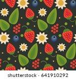 vector flat style seamless... | Shutterstock .eps vector #641910292